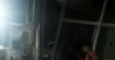 VÍDEO:veja como ficou agência bancária de Arame-MA após bando explodir caixas