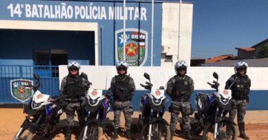 14º BPM ganha quatro motocicletas e anuncia intensificação de ações anticrimes