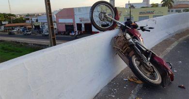 Motociclista cai do viaduto na BR-010 e fica gravemente ferido em Imperatriz