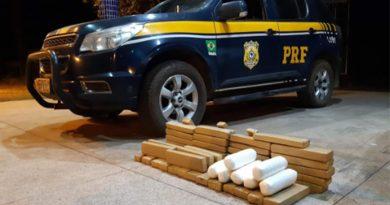 PRF apreende carregamento de droga na BR-010 em Estreito, no Sul do Estado