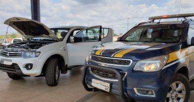 PRF recupera caminhonete roubada no Estado do Pará