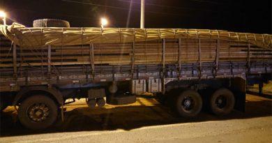 PRF apreende carregamento de madeira serrada na BR-010 no Maranhão